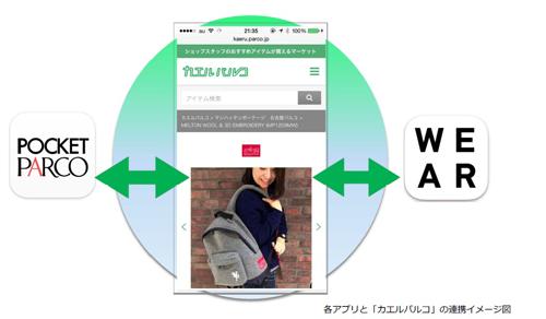 パルコがファッションアプリ「WEAR」と連携 「カエルパルコ」の対応店舗も拡大